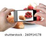 strawberry  croissant   photo... | Shutterstock . vector #260914178