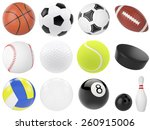set of sports balls  soccer ... | Shutterstock . vector #260915006