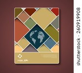 abstract brochure template with ... | Shutterstock .eps vector #260919908