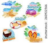 stickers on the beach | Shutterstock .eps vector #260922566