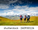 travelers in the mountains.... | Shutterstock . vector #260930126