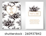 wedding invitation cards with... | Shutterstock .eps vector #260937842