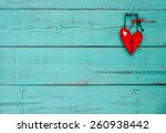 country wood red heart with... | Shutterstock . vector #260938442