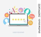 user reviews concept  vector... | Shutterstock .eps vector #260941652