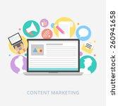 content marketing concept ...   Shutterstock .eps vector #260941658