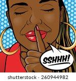pop art styled illustration of... | Shutterstock .eps vector #260944982