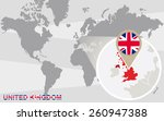 world map with magnified united ...   Shutterstock .eps vector #260947388