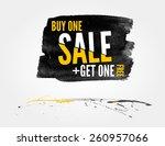 vector half price sale... | Shutterstock .eps vector #260957066