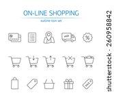 online shopping icons set....   Shutterstock .eps vector #260958842
