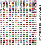 flags of the world  | Shutterstock .eps vector #260960216