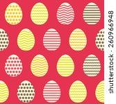 seamless easter egg spring... | Shutterstock .eps vector #260966948