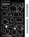 set of vector chalk shapes... | Shutterstock .eps vector #260969882