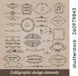 calligraphic design elements... | Shutterstock .eps vector #260979845