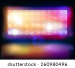 big projection screen. vector... | Shutterstock .eps vector #260980496