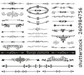 vector set of calligraphic... | Shutterstock .eps vector #260984756