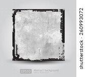 grunge frame background vector  | Shutterstock .eps vector #260993072