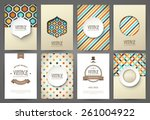 set of brochures in vintage... | Shutterstock .eps vector #261004922