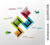 vector timeline infographic...   Shutterstock .eps vector #261005258