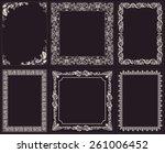 vector calligraphic frames set. ...