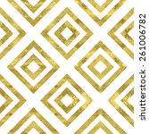 white and gold  pattern.... | Shutterstock .eps vector #261006782