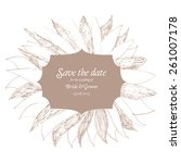 save the date wedding... | Shutterstock .eps vector #261007178