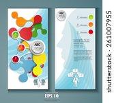 modern flyer design template | Shutterstock .eps vector #261007955