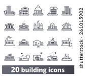 building icons set  vector... | Shutterstock .eps vector #261015902