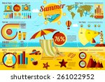 set of summer and travel... | Shutterstock .eps vector #261022952
