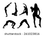 fitness silhouettes sport | Shutterstock .eps vector #261023816