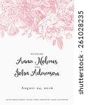 vector vintage floral wedding... | Shutterstock .eps vector #261028235