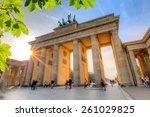 Brandenburg Gate At Summer ...
