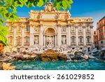fountain di trevi in rome  italy | Shutterstock . vector #261029852