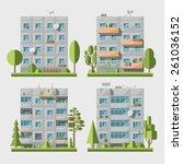 set of vector flat style...   Shutterstock .eps vector #261036152