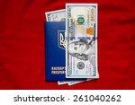 money  dollars in the ukrainian ... | Shutterstock . vector #261040262