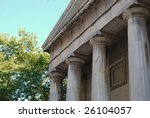 classic roman columns in... | Shutterstock . vector #26104057