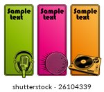 abstract party design. banners. ... | Shutterstock .eps vector #26104339