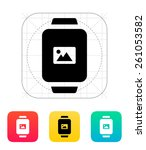 photo on smart watch icon.