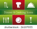 dinner   cooking restaurant... | Shutterstock .eps vector #26107055