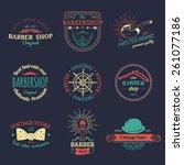 vector set of vintage hipster... | Shutterstock .eps vector #261077186