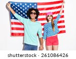 american style. funky young... | Shutterstock . vector #261086426