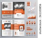 classic brochure template... | Shutterstock .eps vector #261103856