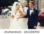 wedding day  love story | Shutterstock . vector #261106442