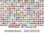 flags of the world. vector... | Shutterstock .eps vector #261110216