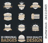 vector vintage badges. high... | Shutterstock .eps vector #261113405