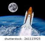 Space Shuttle Rocket Launch...