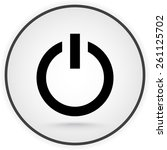 power on off button sign icon ... | Shutterstock .eps vector #261125702