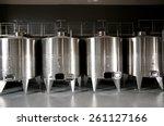 wine tanks   Shutterstock . vector #261127166
