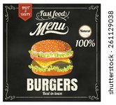 restaurant fast foods menu... | Shutterstock .eps vector #261129038