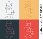 character illustration design.... | Shutterstock .eps vector #261136868