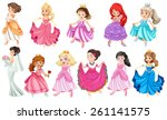 princess in different beautiful ... | Shutterstock .eps vector #261141575